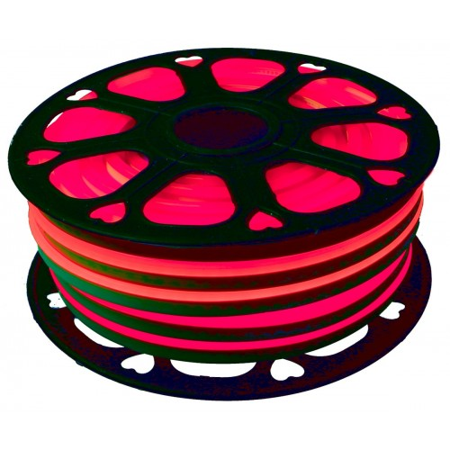 Neon led flexible simple 12V Rojo 8mm corte 2,5 cm 112 led metro 8W 25m