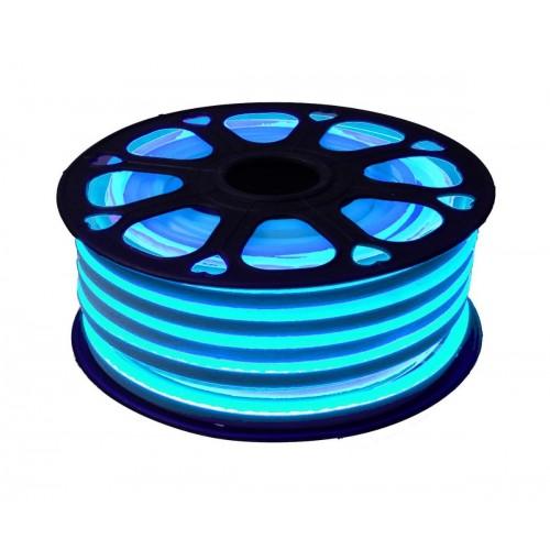 Neon led flexible simple 12V Azul Celeste 8mm corte 2,5 cm 112 led metro 8W 25m