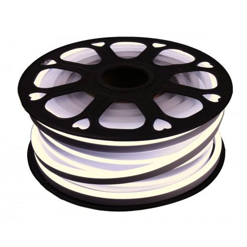 Neon led flexible simple 12V 3000K 8mm corte 2,5 cm 112 led metro 8W 25m