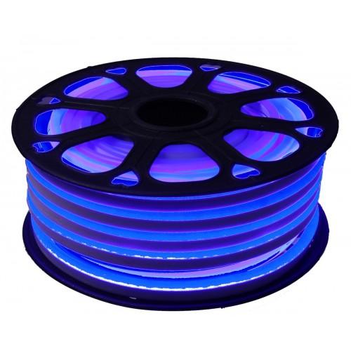 Neon led flexible simple 12V Azul 8mm corte 1 cm 100 led metro 12W 25m