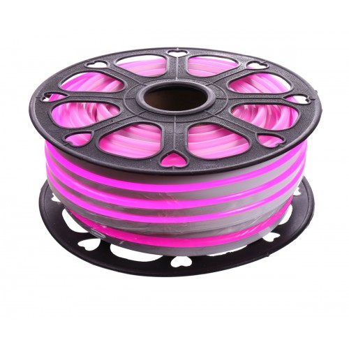 Neon led flexible simple 12V Rosa 8mm corte 1 cm 100 led metro 12W 25m