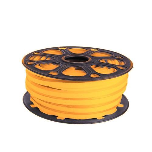 Neon led flexible simple 12V Naranja 8mm corte 1 cm 100 led metro 12W 25m