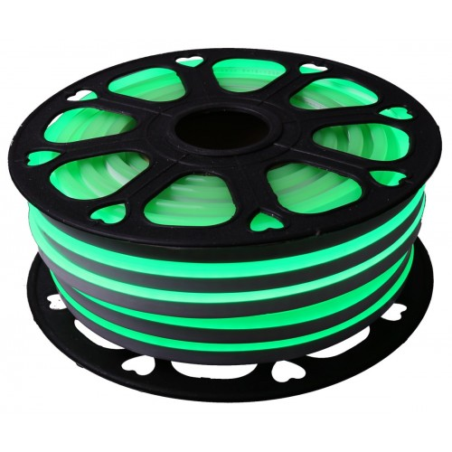 Neon led flexible simple 12V Verde 8mm corte 2,5 cm 112 led metro 8W 25m (Defectuoso)
