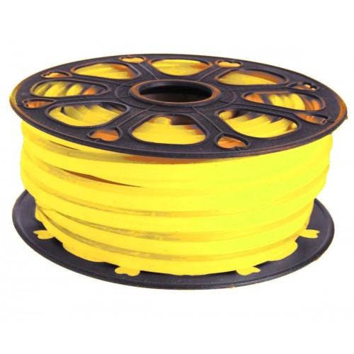 Neon led flexible simple 12V Amarillo limon 8mm corte 2,5 cm 112 led metro 8W 25m (Defectuoso)