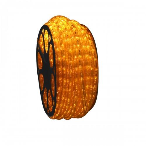 Hilo luminoso led horizontal AMARILLO exterior corte 0,5m 220-240V 50m