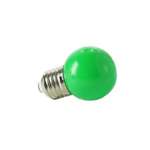 Bombilla led color 1W E27 fiesta VERDE