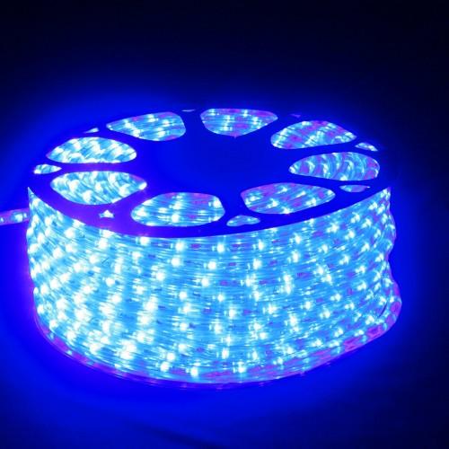 Hilo luminoso LED Y PVC AZUL Horizontal corte 0,5m 50m 220v