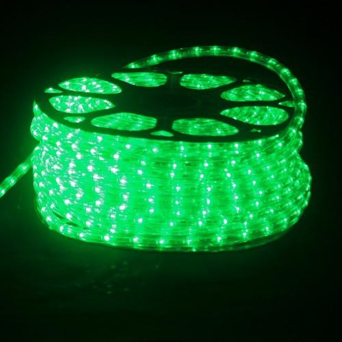Hilo luminoso LED Y PVC VERDE Horizontal corte 0,5m 50m 220v