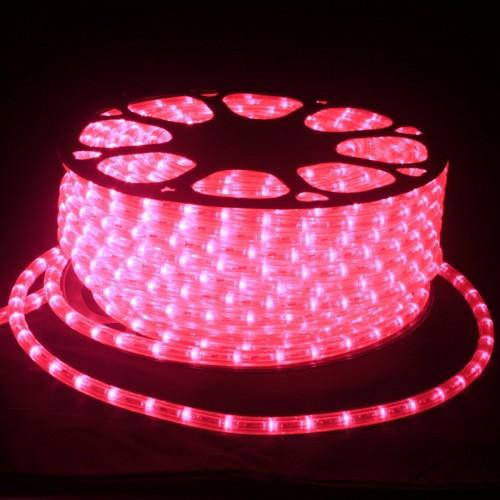 Hilo luminoso LED Y PVC ROSA MAGENTA Horizontal corte 0,5m 50m 220v
