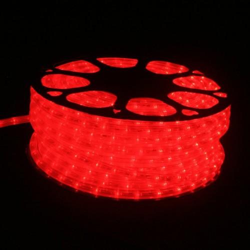 Hilo luminoso LED Y PVC ROJO Horizontal corte 0,5m 50m 220v