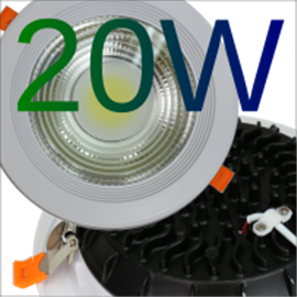 Downlight LED COB 20W