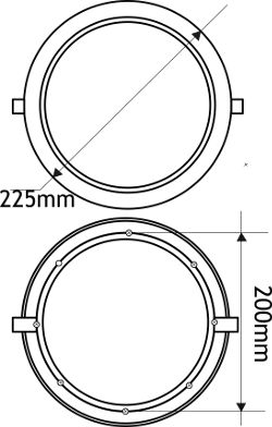 Downlight led circular empotrable
