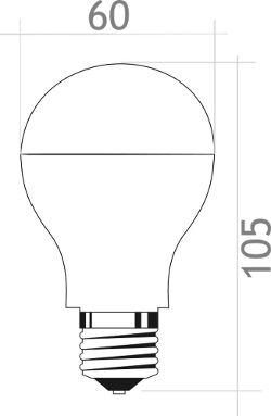 Bombilla LED con sensor movimiento crepuscular