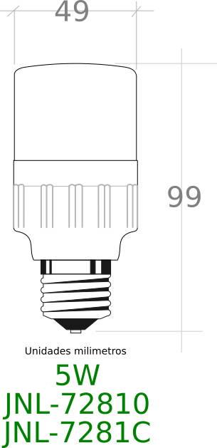 bombilla led E27 sensor 5W 6000K