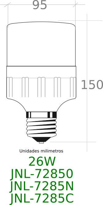 Bombilla LED 26W JNL-7285N