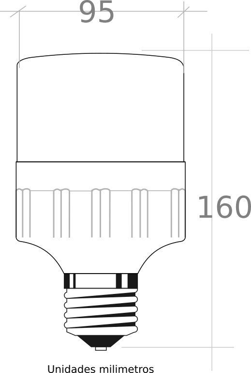 bombilla led E27 sensor 15W 6000K