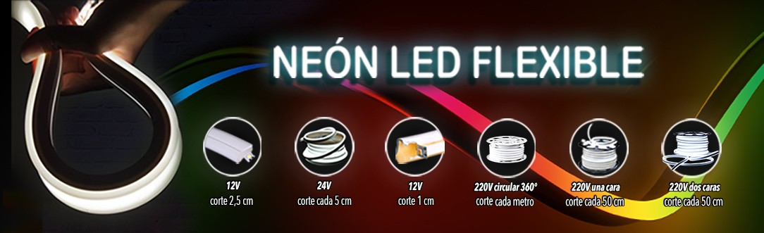 Neón LED flexible colores